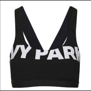 IVY PARK Black and White Logo Sports Bra
